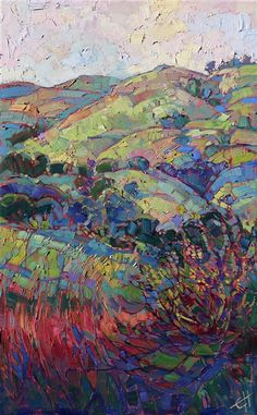 Alla prima oil painting by modern impressionist painter Erin Hanson