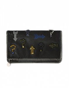 Stella McCartney Embroidered Fold Over Clutch