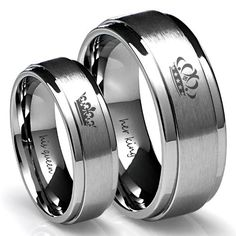 King and Queen Couples Rings - Great Promise Rings