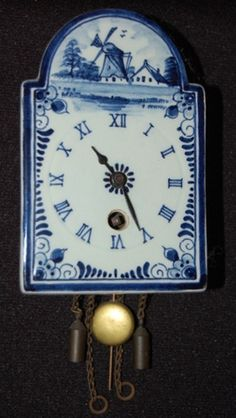 Antique Delft Blue Clock-I would really one of these