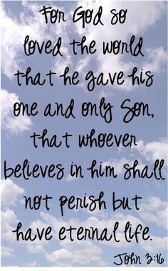 That's crazy love! - John 3:16 #bibleverses