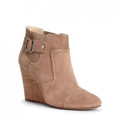 Women's Army Suede 3 1/2 Inch Wedge Bootie | Heather by Sole Society