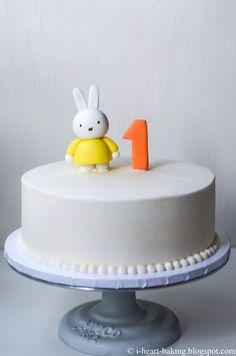 miffy first birthday cake with handmade fondant miffy topper