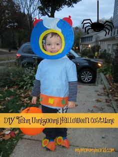 If your child has been dreaming of dressing up as Geo for Halloween, you have to make him this easy DIY Team Umizoomi costume! No sewing is involved...if you know how to use scissors and fabric glue, you can definitely make this DIY Halloween costume for just a few dollars.