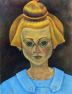 'porträt von einem junges mädchen', 1915 von Joan Miro (1893-1983, Spain)