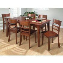 Outfit your dining room in an instant with the Jofran Shea Dining Table and 6 Chairs. This set includes. Dining Room Furniture Sets, Dining Room Sets, Kitchen Furniture, Kitchen Dining, Dining Chairs, Solid Wood Dining Table, Home Kitchens, Home Decor, Byron Center