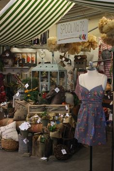 vintage countryside booth