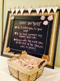 45 Amazing Baby Shower Ideas to Celebrate your Favorite Mom-to-B – Baby Showers - Baby Diy Idee Baby Shower, Bebe Shower, Cute Baby Shower Ideas, Fun Baby Shower Games, Baby Games, Girl Shower, Baby Shower Themes, Baby Shower Parties, Bany Shower Games