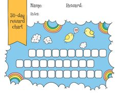 Looking for a Free Printable Reward Chart Template. We have Free Printable Reward Chart Template and the other about Printable Chart it free. Reward Chart Template, Printable Reward Charts, Reward Chart Kids, Kids Rewards, Free Printables, Rewards Chart, Childrens Reward Charts, Sticker Chart, Goal Charts