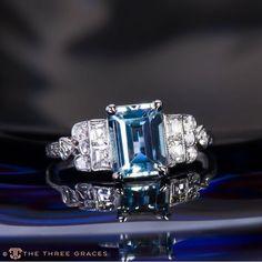 Blue Rhapsody - Aquamarine Diamond Ring #Aquamarine #TotallyDevoted