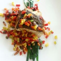Grilled Seabass with vegetable