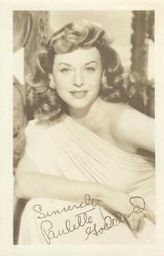 Paulette Goddard #signed