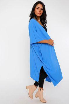 Women's Batwing Sleeves Shabby Blue Cardigan – Blushgreece.shop Blue Cardigan, Batwing Sleeve, Bat Wings, Wrap Dress, Shabby, Model, Sleeves, Dresses, Shop