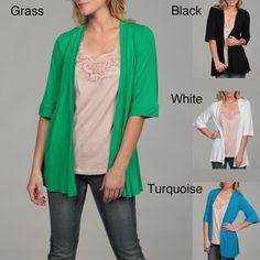 $40 24/7 Comfort Apparel Women's Open Shrug  rayon    www.overstock.com