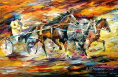Flaming Chariot Artwork By Leonid Afremov Oil Painting & Art Prints On Canvas For Sale Oil Painting Texture, Autumn Painting, Oil Painting On Canvas, Canvas Art Prints, Painting Art, Colorful Paintings, Beautiful Paintings, Baseball Wall Art, Oil Painting Reproductions