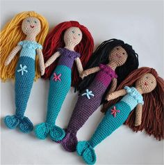 Custom Doll, Mermaid Crocheted Toy, Made To Order, Choice of Colors. $43.50, via Etsy.