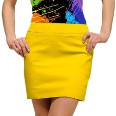 Element Lemon Chrome Womens Golfing Skorts by Loudmouth Golf.  Buy it @ ReadyGolf.com
