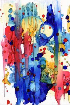 #contemporaryart #colorfulpainting #mixedmediaart #contemporarydecor Colorful Abstract Art, Contemporary Abstract Art, Modern Artwork, Artwork Ideas, Alcohol Ink Painting, Alcohol Ink Art, Happy Paintings, Beautiful Paintings, Quirky Art