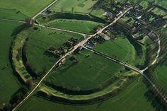 Avebury, a village in a stone circle, England