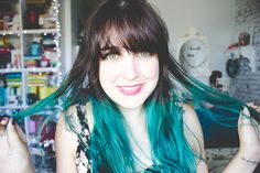 Melina Souza - Serendipity <3  #Hair  #Blue  #Serendipity