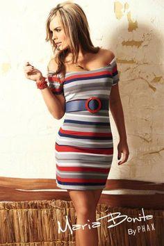 Sailor look, horizontal stripes
