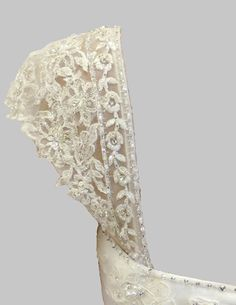 Detachable Appliqued Beaded Lace Wedding by RosemaryDesignsBride, $195.00