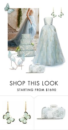 """""""Untitled #47"""" by laly59 ❤ liked on Polyvore featuring Georges Hobeika, Christina Debs, Oscar de la Renta and Sophia Webster"""