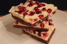 White Chocolate Pomegranate Bark