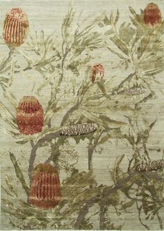 Design: Banksia By Jenny Jones Jenny Jones, Australian Wildflowers, True Art, Beautiful Wall, Rug Making, Floor Rugs, Rugs On Carpet, Wall Tapestry, Wild Flowers
