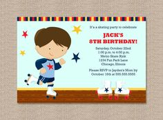 Roller Skating Fun Birthday Party Invitations with by Honeyprint, $15.00