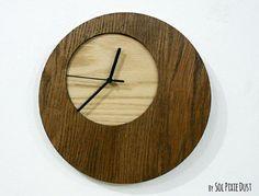Wooden Simply Circle - Wood Wall Clock by SolPixieDust on Etsy Clock Art, Diy Clock, Clocks, Cnc, Reclaimed Wood Wall Art, Wood Art, Modern Rustic, Rustic Wood, Gold Wall