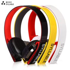 Syllable G600 Wireless Bluetooth Earphone 4.0 HIFI Stereo Sound Musical Sports Headset Four Color Noise Cancellation Headphones