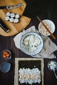 Chamchi (tuna) Kimbap | by Two Red Bowls, via Flickr
