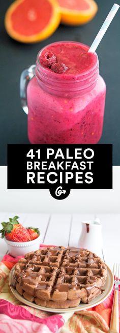 41. No-Bake Paleo Chocolate Protein Bars #paleo #breakfast #recipes http://greatist.com/eat/paleo-breakfast-recipes