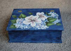 Caja Floral azul