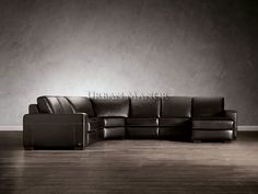 //Modena Reclining Leather Sectional// Italian Leather; Comfortable and designed with simple lines to express true comfort and style in any room. Available in black & white.