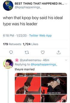 Ideal Type, Double B, A Guy Who, Hanbin, Twitter Web, Kpop Boy, Shit Happens, Guys, Sayings