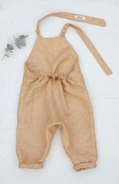 Handmade Unisex Linen Overalls | burrowbabywear on Etsy