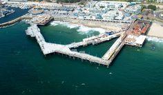 Aerial of the Redondo Beach Horseshoe Pier