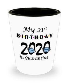 Quarantine 21st Birthday Gift   Funny Shot Glass for Friends 2020   Gift for Best Friend Son Daughter Turning 21 Shotglass   Funny Teacher Gifts, Teacher Humor, Turning 21, Teacher Photo, Special Birthday Gifts, Iron Decor, Glass Material, Best Friend Gifts