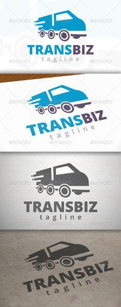 Transport Truck - Logo Design Template Vector #logotype Download it here: http://graphicriver.net/item/transport-truck-logo/6965950?s_rank=1700?ref=nexion