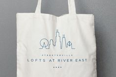 Lofts at River East  |  Reusable Canvas Bag