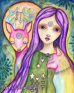 The Happy Traveler – A New Art Journey Begins http://lorislaboratory.com/2016/02/24/the-happy-traveler-new-art-journey-begins/  #lifebook2016  #rainbow #spiritanimal #portrait #girl #artjournal #mixedmedia #watercolor #painting #art