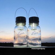 Solar Kerr Canning Jar Lights Vintage Garden Hanging Lanterns Outdoor Mason Jar Solar Lights