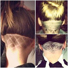 nape undercut designs-not as high though