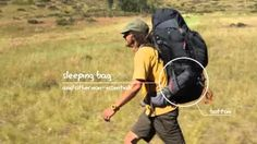 how to pack a backpack for hiking - YouTube