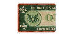 Dollar Bill Needlepoint Wallet