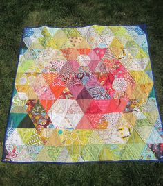 Heather Ross triangle quilt