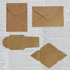 Tiny kraft paper envelopes can hold special little love notes, coins, seeds, a lock of hair - anything you desire! This set of envelopes comes as die-cut flat k