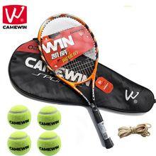 CAMEWIN 1 Pair Carbon Fiber Tennis Racket with Tennis Bag+ Tennis Balls +Rubber Band raquete de tenis masculino for Women & Men